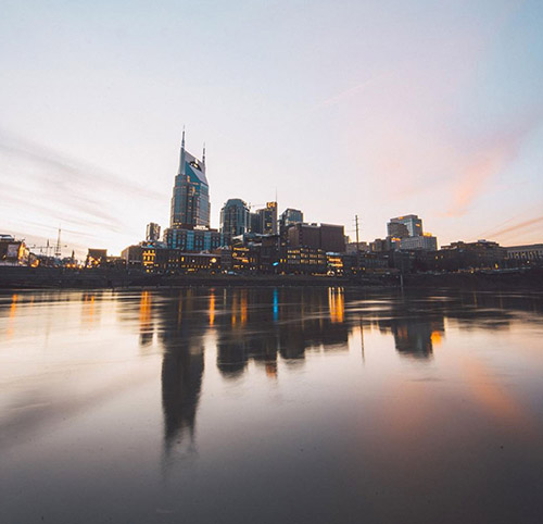 river side view of Nashville